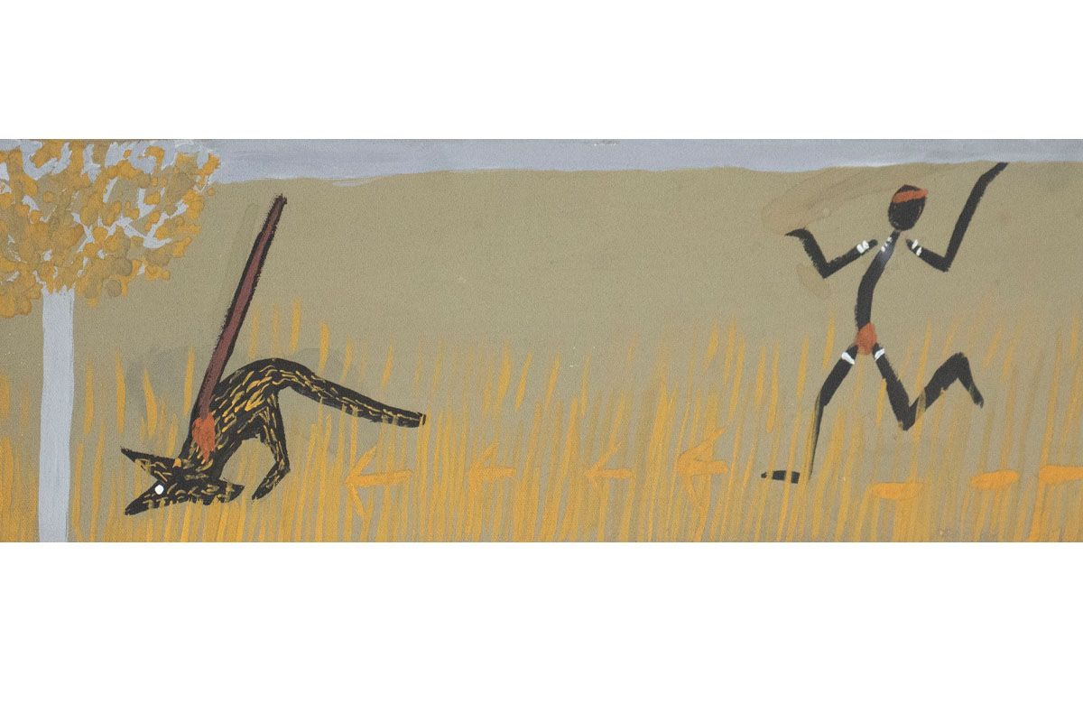 RW-5785-21.jpgRichard Wilson Run with roos track 2021 Natural pigment on canvas 15 x 50cm