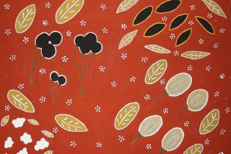 GM358011 Gloria Mengil Bush Foods 2011 natural pigment on canvas 80x60cm