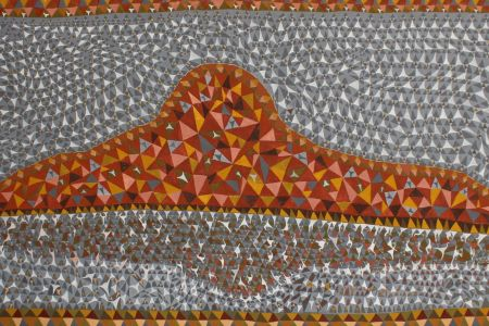 BW5544-17 Ben Ward Bilbijy 2017 natural pigment on canvas 200x100cm